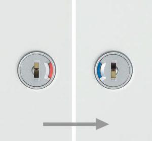 開閉表示機能付きロック