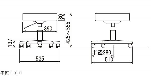 RZR-112の寸法図