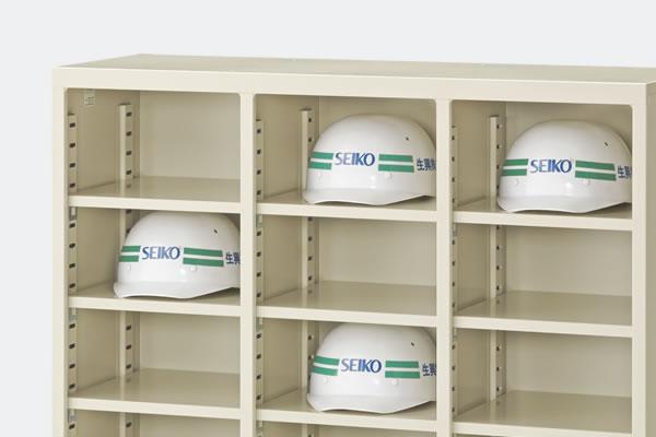 必要に応じて棚板を追加することで細かく収納でき、様々な収納物に対応