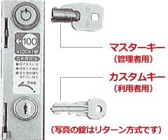 ケーシングはピッキングが困難な防犯性に優れた錠前を採用しています。鍵の紛失や交換をする際は、マスターキーを使用します。