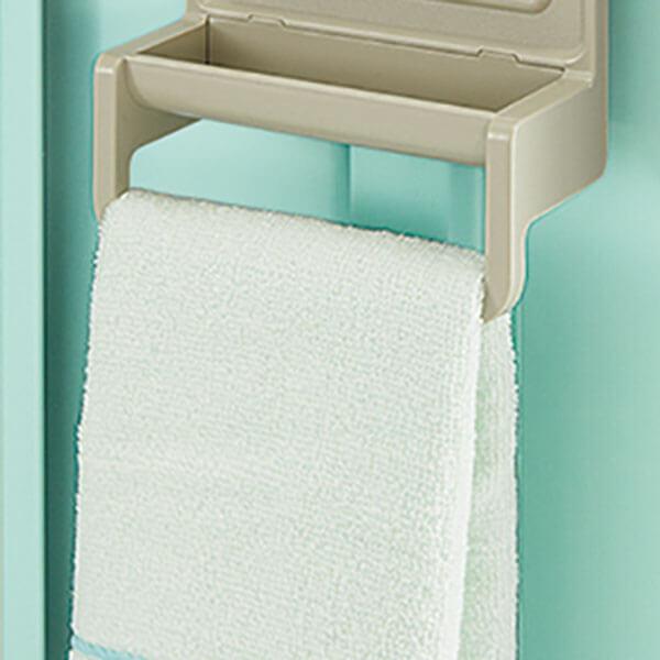 2段タイプにはタオル掛けが付属しています