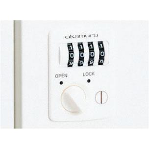 キーを持ち運ぶ必要のないダイヤル錠。番号固定式・都度設定式どちらでも利用できます。