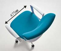 安定感とホールド感のある座り心地