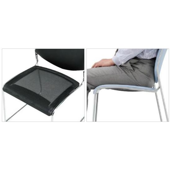 インナーメッシュとウレタンのダブルクッションで、長時間座っていても疲れを感じにくい設計。