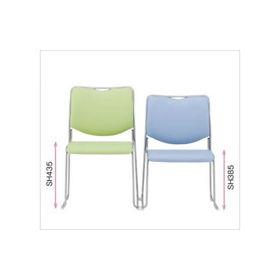 本商品は一般的な座面高:435mmタイプです。高齢者や小柄な方などが主に使う場面では、座面の低いタイプのご用意もございますのでお気軽にお問い合わせください。
