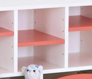 オープン収納の可動棚板