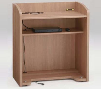 内側には機材などを置いておける棚板がございます。配線・底面にも配線孔があり、床まで配線を通せます。
