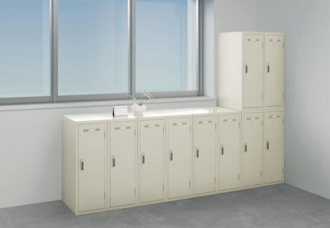 ブロックのように組み合わせて空間の有効利用ができる小型ロッカー