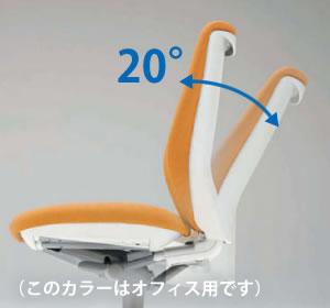 くるぶしを支点にした、背と座が連動して動く自然なリクライニング機構を採用しています。
