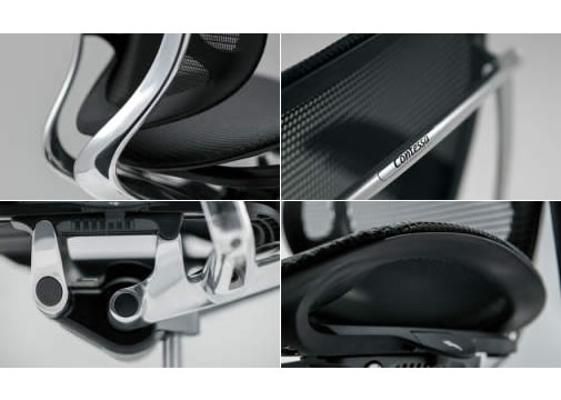 世界の工業デザインを牽引する、イタリア・トリノのジウジアーロ・デザインが手掛けるContessaシリーズ。その独創的なデザインを更に洗練させつつ、よりスマートかつしなやかに、強度と機能を一層グレードアップさせたのがコンテッサ セコンダです。