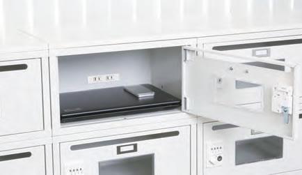 メールBOXとしても、ノートPCの充電保管も。