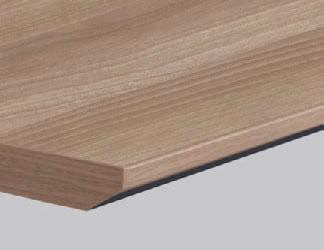 天板のエッジは、スッキリとシャープなスラントエッジ。軽やかさを演出する配色デザインになっています。