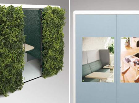 大きな外壁面をプレゼンボードや緑化にご利用いただけます。クロス部はマグネット(強力なものを使用してください)での掲示にも対応します。
