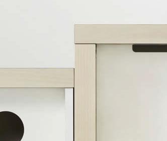 カジュアルさ・重厚感をプラスする、天板厚50mmのラインナップ。天板厚み50mmなので、より存在感のある印象を与えます。従来型の天板厚み30mmへも変更可能です。