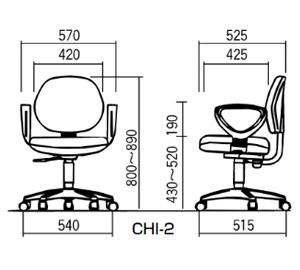 CHI-2 寸法図