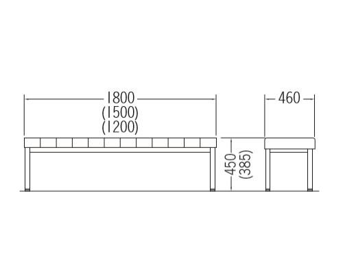CLO(セミオーダー)シリーズ-背なしタイプ 寸法図