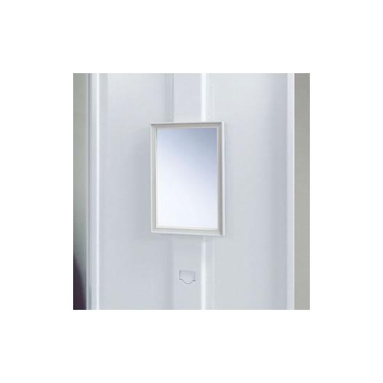 鏡は使用する人の身長に合わせて、2段階の高さ調節が可能です。