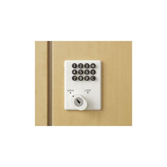 施錠方法:ボタン錠タイプ。