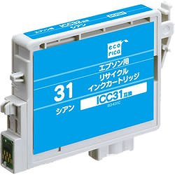 エコリカ ECI-E31C リサイクルインク シアン