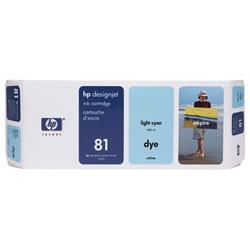 HP C4934A HP81 インクカートリッジ ライトシアン 屋内用 純正