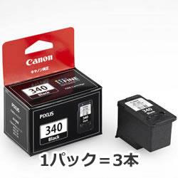CANON 5213B001 BC-340 FINEカートリッジ ブラック 3本パック