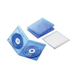 ELECOM CCD-BLU203CBU Blu-rayディスクケース(2枚収納タイプ)