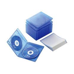 ELECOM CCD-BLU210CBU Blu-rayディスクケース(2枚収納タイプ)