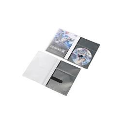 ELECOM CCD-DPD30BK CD/DVD用スリム収納ソフトケース