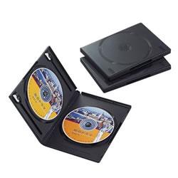 ELECOM CCD-DVD04BK DVDトールケース