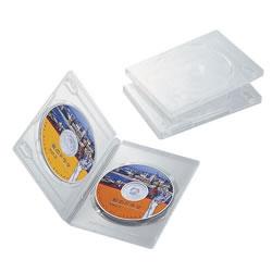 ELECOM CCD-DVD04CR DVDトールケース