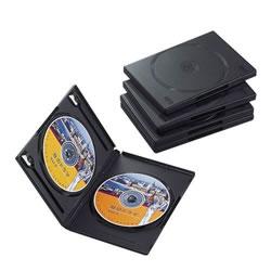 ELECOM CCD-DVD05BK DVDトールケース