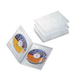 ELECOM CCD-DVD05CR DVDトールケース