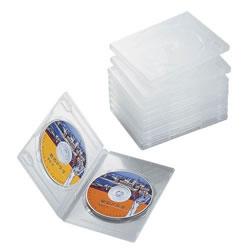 ELECOM CCD-DVD06CR DVDトールケース