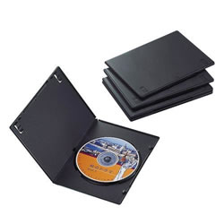ELECOM CCD-DVDS02BK スリムDVDトールケース