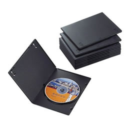 ELECOM CCD-DVDS03BK スリムDVDトールケース