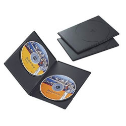 ELECOM CCD-DVDS04BK スリムDVDトールケース