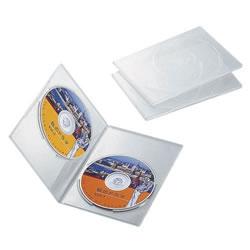 ELECOM CCD-DVDS04CR スリムDVDトールケース