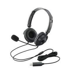 ELECOM HS-HP20UBK USBヘッドセット(両耳オーバーヘッド)