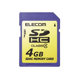 ELECOM MF-FSDH04G SDHCメモリカード