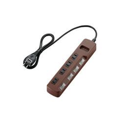 ELECOM T-BR02-2410BR 個別スイッチ付 雷ガードタップ