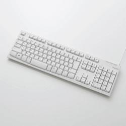 ELECOM TK-FCM062WH USB接続 スタンダードキーボード