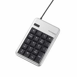 ELECOM TK-TCM012SV 2ポートUSB2.0HUB付USBテンキーボード