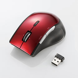 ELECOM M-BL22DBRD ワイヤレスBlueLEDマウス