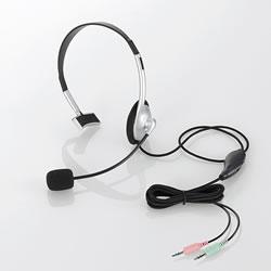 ELECOM HS-HP21SV ヘッドセット(片耳小型オーバーヘッドタイプ)