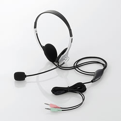 ELECOM HS-HP22SV ヘッドセット(両耳小型オーバーヘッドタイプ)