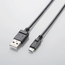 ELECOM MPA-AMBCX2U08BK 2A対応充電専用microUSBケーブル(スリムタイプ)