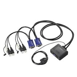 ELECOM KVM-KUS USB←→USBパソコン切替器/オーディオ切替