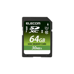 ELECOM MF-FSD064GU11LR SDXCカード/データ復旧サービス付