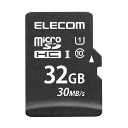 ELECOM MF-MSD032GU11LR MicroSDHCカード/データ復旧サービス付
