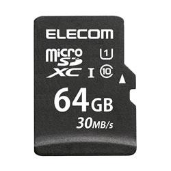 ELECOM MF-MSD064GU11LR MicroSDXCカード/データ復旧サービス付